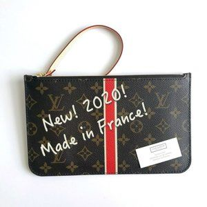 Louis Vuitton Neverfull monogram wristlet pouch